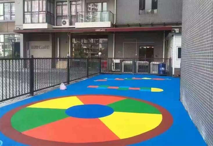 幼儿园室外地坪施工